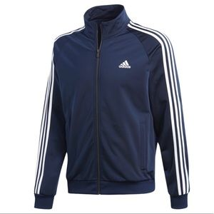 Adidas Navy Blue/White Men Track Jacket